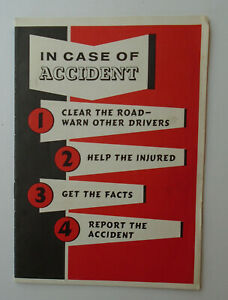 A. D. Anderson Chevrolet Baltimore Maryland 1959 Accident Report booklet unused