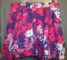 PURPLE AND PINK FLORAL SKIRT FROM P.S. FROM AEROPOSTALE-GIRLS SIZE 14