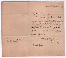 1834 LORD MORPETH ALS Signature AUTOGRAPH Viscount GEORGE HOWARD Earl Carlisle