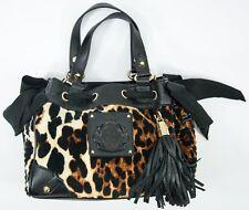 Juicy Couture Gold-Tone Black Leopard Daydreamer Handbag Purse EUC