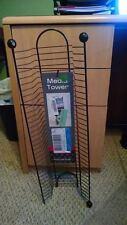 ATLANTIC MEDIA TOWER 32 DVD TOWER WIRE GUN METAL *NEW*
