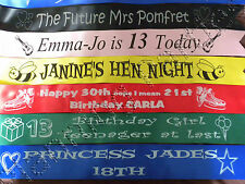 Personalised Celebration Luxury Prom Queen / King Sash