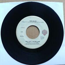 "VAN HALEN Why Can't This Be Love 45 7"" POP ROCK 1986 Record Vinyl Warner Records"