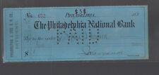 Philadelphia National Bank Pa Used Check 1902