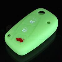 Custodia silicone VERDE guscio protettivo case telecomando auto Fiat Idea GP1