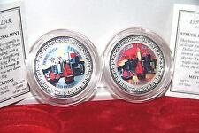 2 x Trade Dollar 1997 - Hong Kong returns to China - SILBERMÜNZE - SILBERBARREN