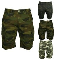Mens Big King Size Cargo Shorts Combat Camo Army Long Military Casual 3/4 Pants