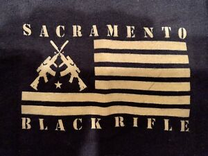 Sacramento Black Riffle, Black T-Shirt, XL, Short Sleeve, Brand New, Never Worn