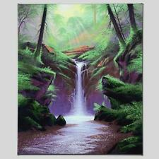 """WOODLAND CASCADE"" by JON RATTENBURY - GALLERY WRAPPED GICLEE ON CANVAS 20 x 24!"