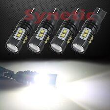 4x T10 High Power Cree 50W 6000K White Reverse Backup Brake LED Projector Bulbs