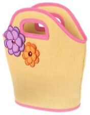 GYMBOREE Pretty Posies Straw Beach Bag Tote Purse w/Flowers One Size NEW