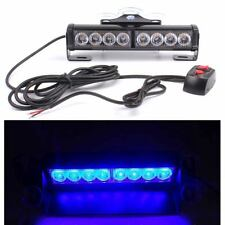 8LED Amber/Red/Blue Car Police Strobe Flash Light Hazard Emergency 12V Universal