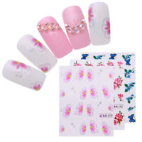 55 Sheets Cherry Blossoms Nail Art Water Decals Colorful Transfer Stickers Tips
