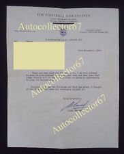 Fantastic SIR ALF RAMSEY signed AUTOGRAPH letter 1966 World Cup England FA