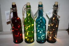 4X Beautiful,Merry christmas ligt up wine bottle