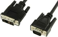 NEW HIGH QUALITY 3M THREE METRE VIDEO DVI-A 12+5 PIN TO VGA 15 PIN MALE-MALE