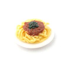 "Dolls House 6832 Plate "" Spaghetti Bolognese "" 1:12 for Dollhouse New! #"