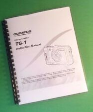 Laser Printed Olympus Tg-1 Tg1 Camera 89 Page Owners Manual Guide