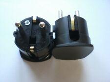 1 x ABL Schukostecker, Schutzkontaktstecker, schwarz, Winkelform