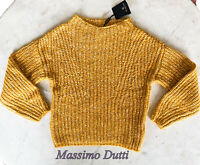 Massimo Dutti Mustard Sweater Knitted Jumper Size XS