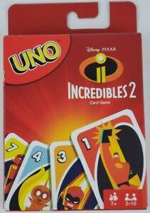 Incredibles 2 UNO Card Game Mattel Disney Pixar
