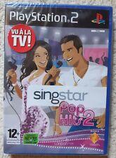 Jeu SINGSTAR POP HITS 2 - Playstation 2 (PS2) -Français (PAL)- Neuf sous blister
