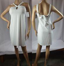 NWT $69 Athleta M Petite MP (8) White Kiki Swim Dress Sold Out Online