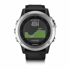 Garmin fēnix 3 51mm Silver Case Black Strap Running Watch