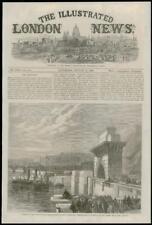1868 LONDON Abbey Mills Temple Pier Thames North Embankment Pump Station   (083)