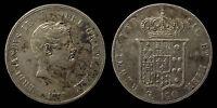 pci1053) Napoli Due Sicilie Ferdinando II piastra 1857 TONED !!!