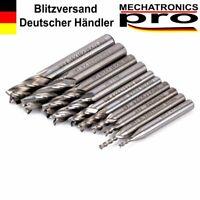 4 Schneiden HSS Schaftfräser für Aluminium, Alufräser Ø 2,0 - 6,0mm CNC