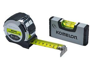 Komelon Powerblade II Poche Ruban Mesure 5m/16ft Avec Mini Niveau XMS19TAPELEV