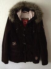 Damenjacke Cordjacke Jacke EDC Esprit Braun Dunkelbraun Größe M