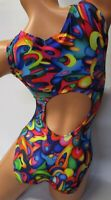 FlipFlop Leos Gymnastics Leotard,  Gymnast Leotards - OPEN BACK TRUE COLORS