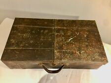 Original Trench art Suit case Standard Oil drum construction, REFUGEE, MILITARY?