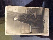 a2f postcard worn old undated boy at desk