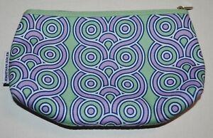 JONATHAN ADLER CLINIQUE Green Purple Blue White Patterned Makeup Bag Case Zipper