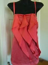 Ladies City Chic Pink Shiny Sleek Singlet Top Size XS 16 18