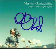 Alanis Morissette signed Havoc & Bright Lights cd