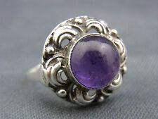 schöner alter Ring 835/-Silber Amethyst ca. um 1900