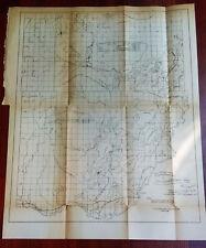 1881 Survey Map Gull Lake Pine River Tributaries to Miss. River Drainage NP Rail
