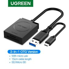 Ugreen USB 3.0 SD Card Reader OTG for SD, Micro SD, UHS-I Card 512G Mac Chrome