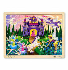 NEW Melissa and Doug Fairy Fantasy Jigsaw Puzzle 48 Piece - Girls Wooden Unicorn