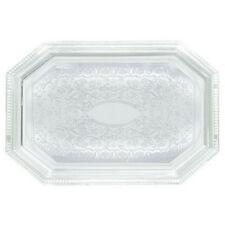 Winco Cmt-1420, 14x20-Inch Chrome Plated Octagonal Serving Tray with Engraved Ed