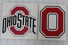 2 Ohio State Buckeyes Vinyl Sticker Decal Bumper Car Truck Laptop Cornhole wall