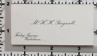 Antigüedad Calling Card Mr H. H. Bagnall Farley Granja