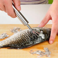Stainless Steel Fish Scales Fruit Coconut Brush Shaver Clean Kitchen Gadget Tool