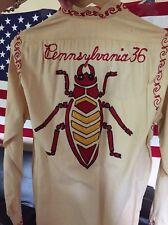 Vintage WWI WWII US Army Military Sanforized Cootie Survenir Embroider Shirt.