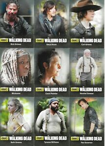 THE WALKING DEAD SEASON 4 PART ONE TRADING CARDS CHARACTER CHASE SET