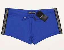 Men's EMPORIO ARMANI Blue Swim Trunks Boxer Euro 54 NWT NEW Sexy! HOT!!!